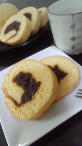 一六タルト風☆小倉カステラロールケーキ