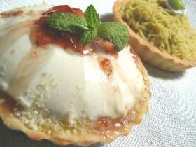 ホットケーキミックスで作る◎いちごのレアチーズタルト◎