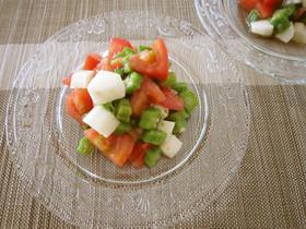 オクラトマト山芋の柚子ポンサラダ☆
