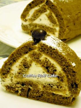 卵無しで作るコーヒーロールケーキ