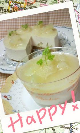 ロイヤルミルクティーと桃のチーズケーキ