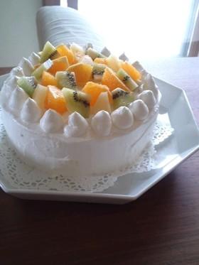 オレンジとキウイのケーキ