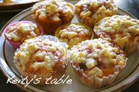 ラムレーズンとチーズのカップケーキ