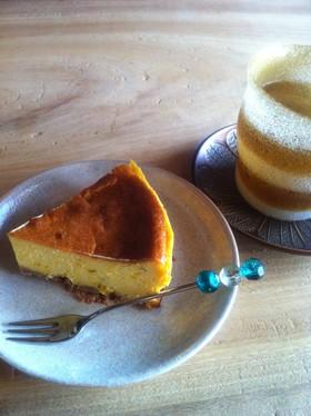もっちりボトム♪かぼちゃのチーズケーキ