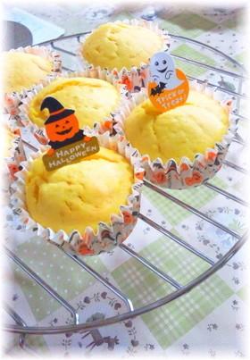 ハロウィン☆パンプキンカップケーキ