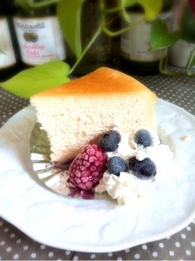 シュワシュワのスフレチーズケーキ
