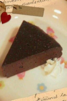 材料2つ☆濃厚生チョコケーキ