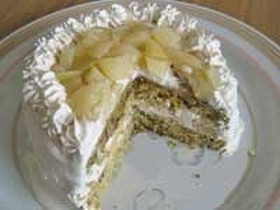 桃と紅茶のケーキ ホットケーキミックスで