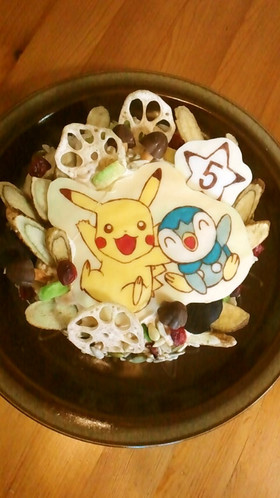 キャラチョコ・ケーキ5歳誕生日 ポケモン