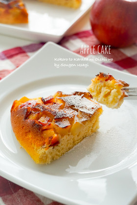 フライパンで焼く☆リンゴのケーキ