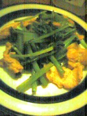 豚と小松菜の炒め物