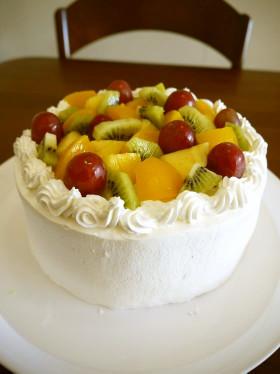秋のフルーツデコレーションケーキ♪