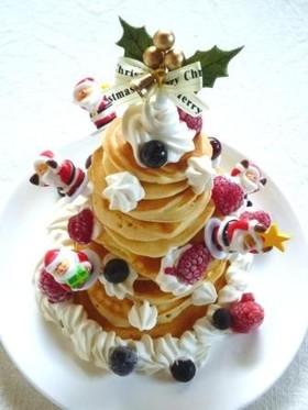 米粉のパンケーキdeクリスマスツリー