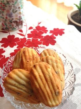 小豆とさつま芋のマドレーヌ風♪