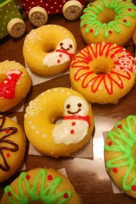 クリスマスに可愛いデコレーションドーナツ