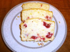 しっとり クランベリー パウンドケーキ