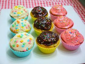 三色★カップケーキ