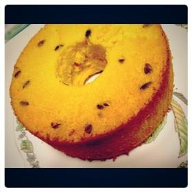 ふわふわ*米粉カボチャシフォンケーキ