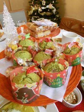 さつまいもと抹茶deクリスマスマフィン