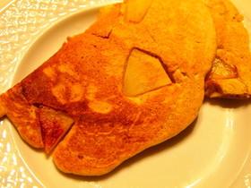 キャラメルりんごの簡単パンケーキ♪