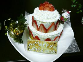 簡単☆ロールケーキのタワー☆