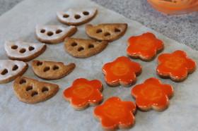 れんこんクッキーとニンジンクッキー♥
