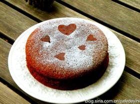 バレンタイン・スフレチョコレートケーキ