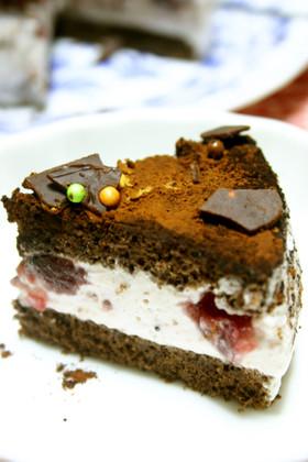 2人用♡ココアとピンクムースのケーキ