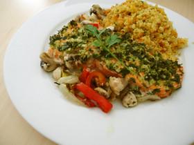 サーモンのオーブン焼き(地中海料理)