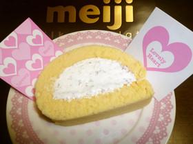 刻みチョコ入り☆ホワイトロールケーキ☆