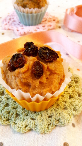 おからのカップケーキ*バルサミコシナモン
