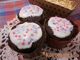 バレンタインに簡単デコカップケーキ☆