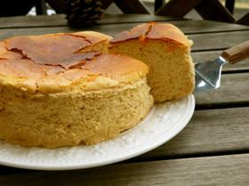 ノンバター・米粉スフレチーズケーキ