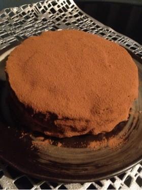 分量簡単!15cm型チョコケーキ