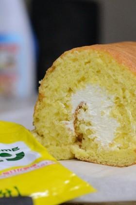 簡単!レモンチーズクリームのロールケーキ
