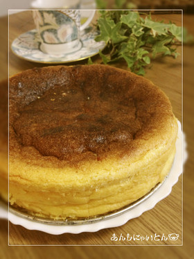 材料3つ♪ふわっしっとり簡単チーズケーキ