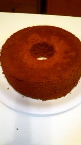 *チョコキャラメルシフォンケーキ*。