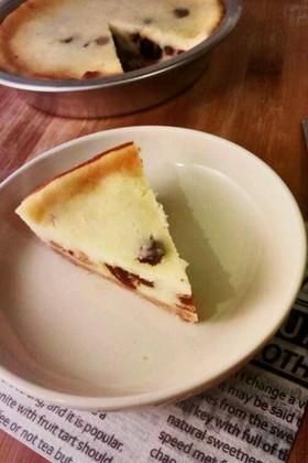 りんごとレーズンのチーズケーキ