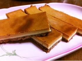 甘みあっさりキャラメル☆チーズケーキ