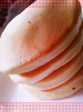 強力粉とマヨネーズのふわふわホットケーキ