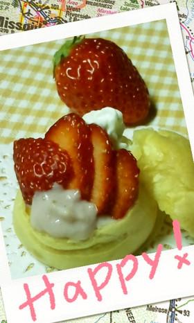 春限定!苺のダブルシュークリーム