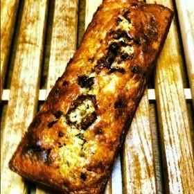 オリーブオイルでバナナチョコケーキ
