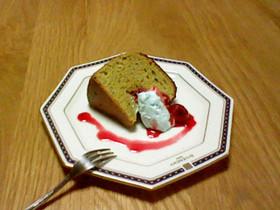 抹茶とイチゴチョコのシフォンケーキ