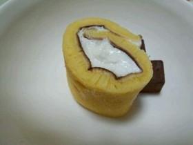 ミニフライパンでヨーグルトロールケーキ