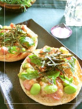 厚切りハムと枝豆のコロコロ和マフィン