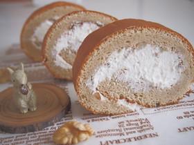 シナモン香る♪胡桃のロールケーキ♡