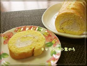 バター不要!桜あんのロールケーキ