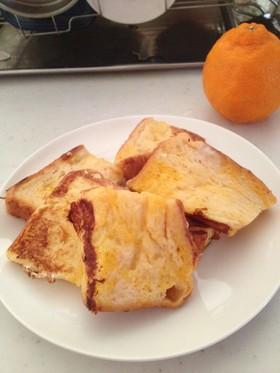 フライパンひとつでフレンチトースト