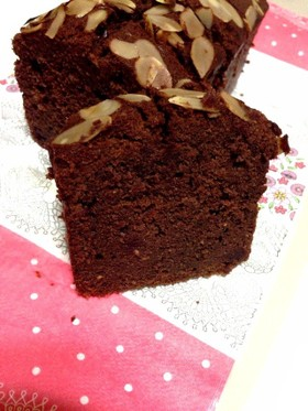 ラズベリーショコラパウンドケーキ