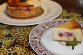 ホワイトチョコ&ラズベリーチーズケーキ♡